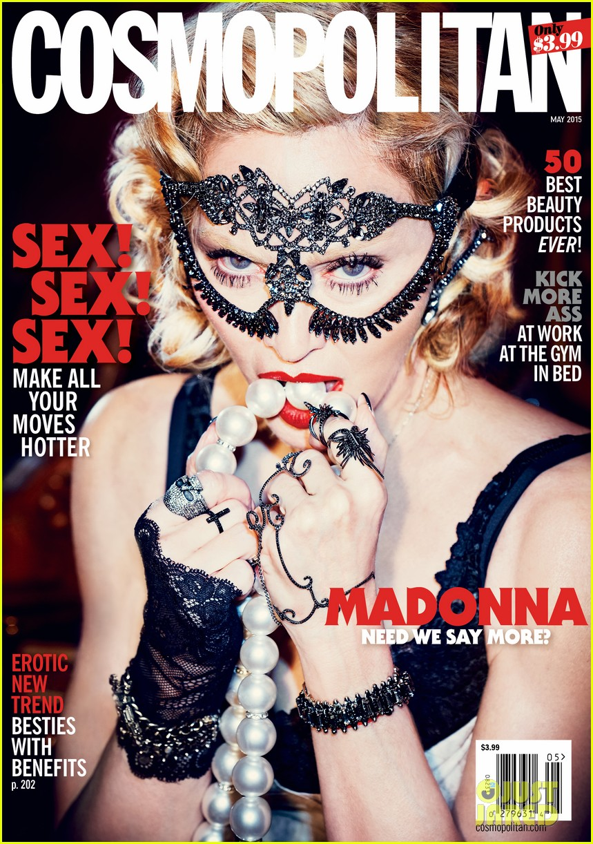 Madonna posa para el 50 Aniversario de COSMOPOLITAN MAGAZINE. Madonna-is-all-about-sex-for-cosmos-50th-anniversary-issue-04