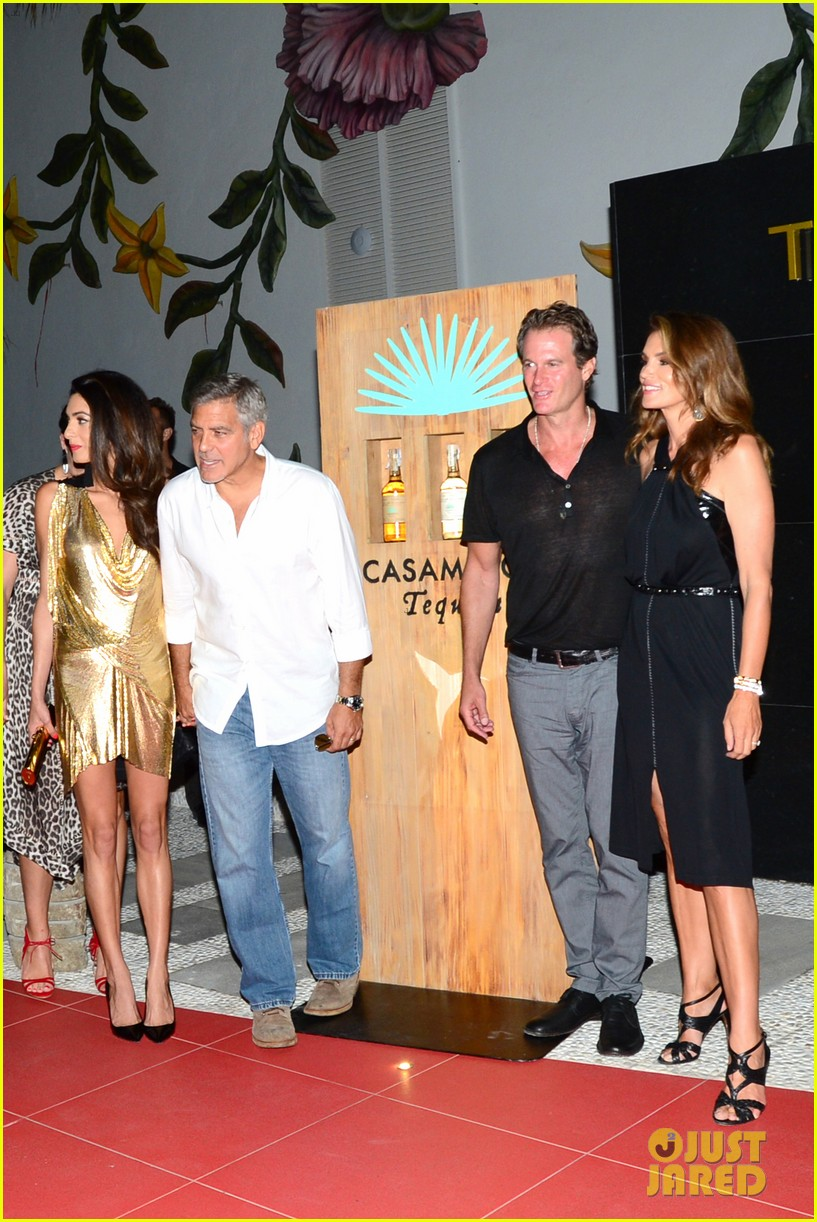George & Amal Clooney, the Gerbers at the Ibiza launch of their Casamigos tequila August 23, 2015 George-amal-clooney-launch-tequila-ibiza-06
