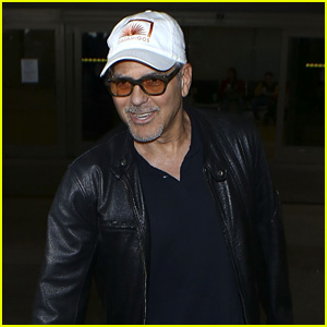 George Clooney back in the US July 2017 George-clooney-wraps-up-italy-trip-in-leather-jacket-and-casamigos-hat