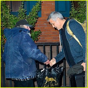 George Clooney Receives a Gift From Radioman on Sunday 8 April George-radio