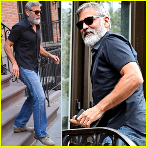 George Clooney Still in New York George-clooney-heads-to-meeting