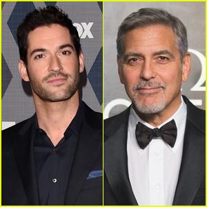 'Lucifer' Star Tom Ellis Met George Clooney in a Women's Bathrobe! Tom-ellis-george-clooney