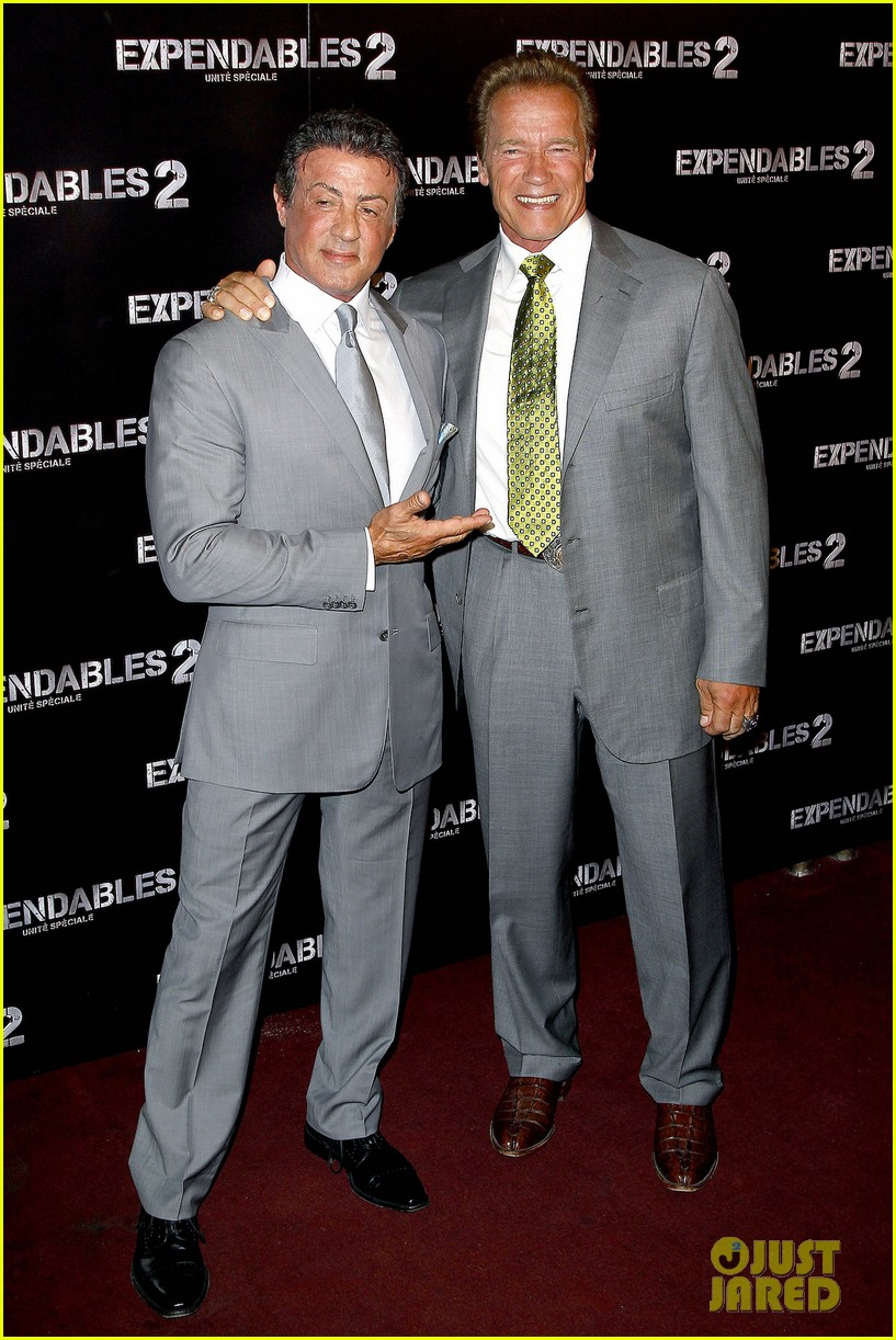 ¿Cuánto mide Sylvester Stallone? - Altura - Real height Schwarzenegger-stallone-statham-expendables-2-premiere-01