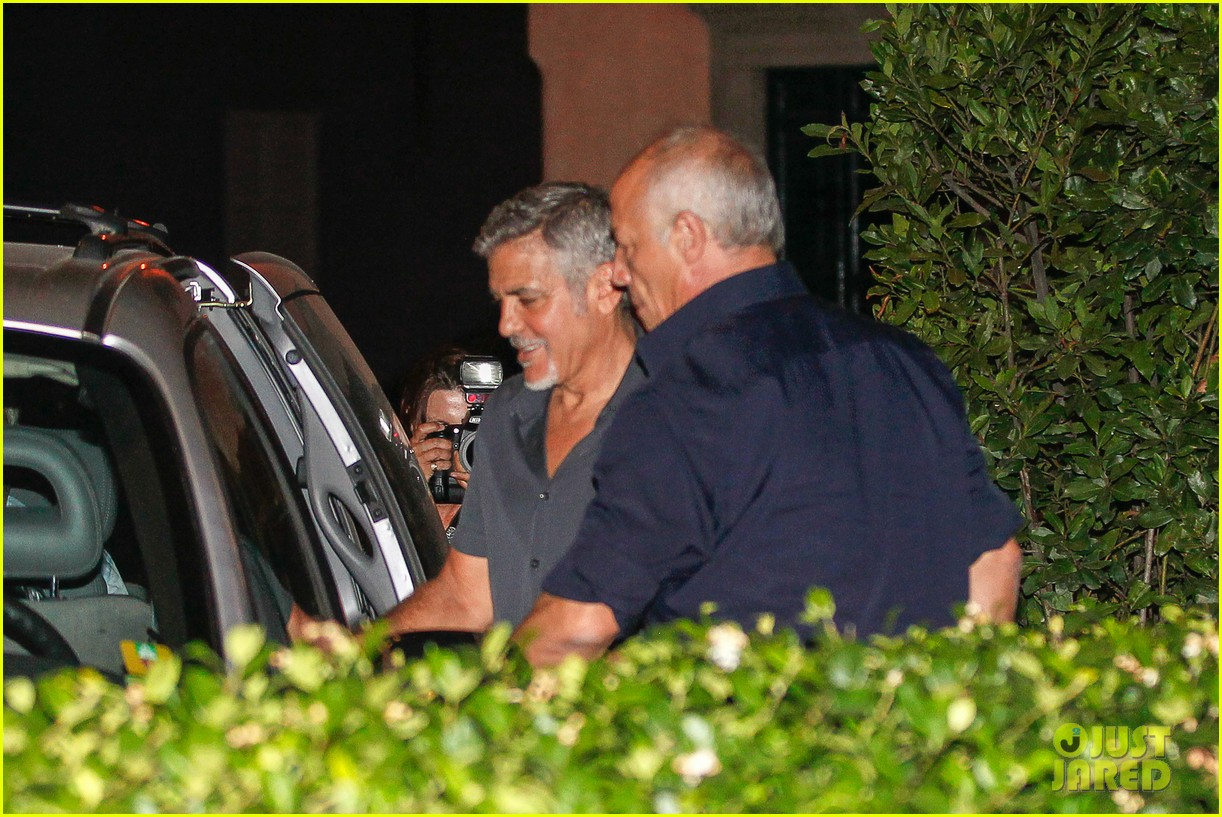 George Clooney has a laughing fit as he steps out for romantic date with his leggy wife Amal in Lake Como - 23. July 2015 George-clooney-amal-love-rom-com-15