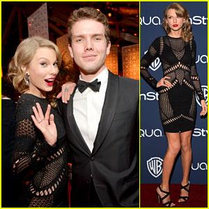 Premios y Nominaciones [Grammys: Primer mujer en la historia con 2 Album of The Year] - Página 19 Taylor-swift-instyle-weinsteins-golden-globes-parties-2014