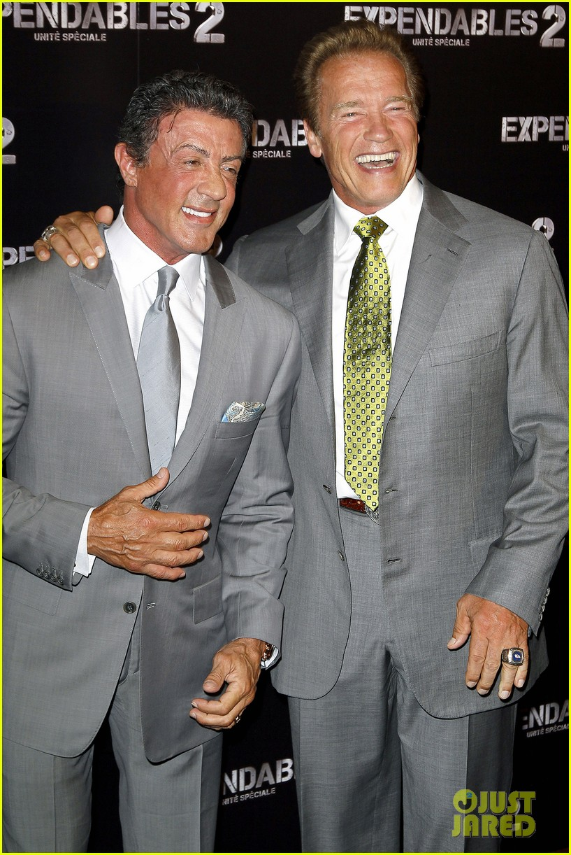 ¿Cuánto mide Sylvester Stallone? - Altura - Real height Schwarzenegger-stallone-statham-expendables-2-premiere-16