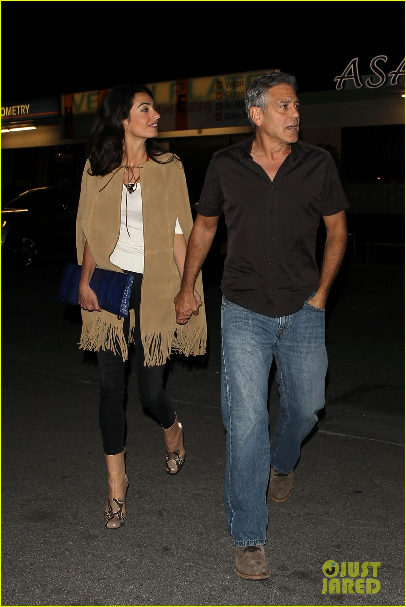 George and Amal Clooney Their First Valentine's Day George-clooney-amal-valentines-day-04