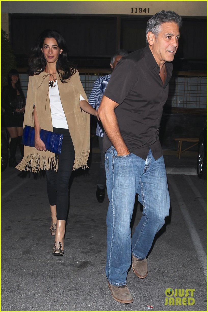 George and Amal Clooney Their First Valentine's Day George-clooney-amal-valentines-day-06