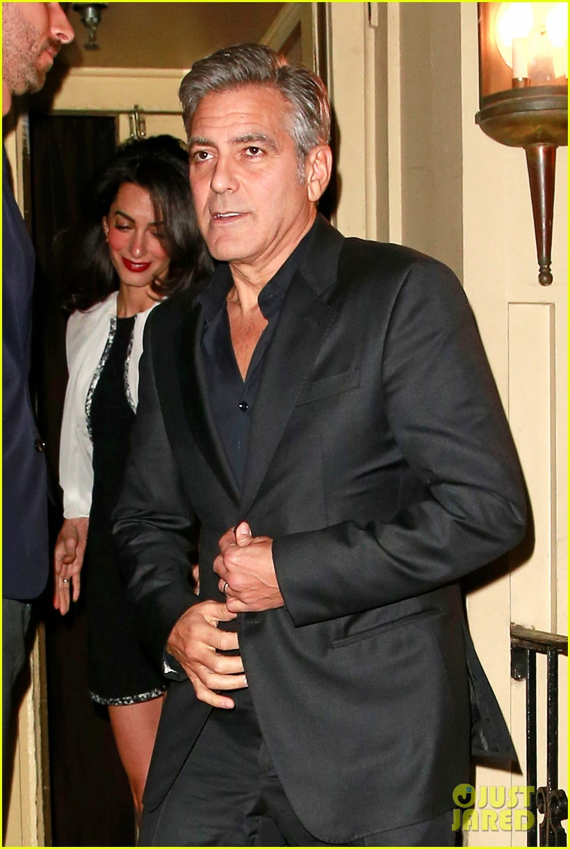 George Clooney and Amal having dinner in NY on 3 April 2015 George-clooney-amal-clooney-date-night-easter-weekend-01