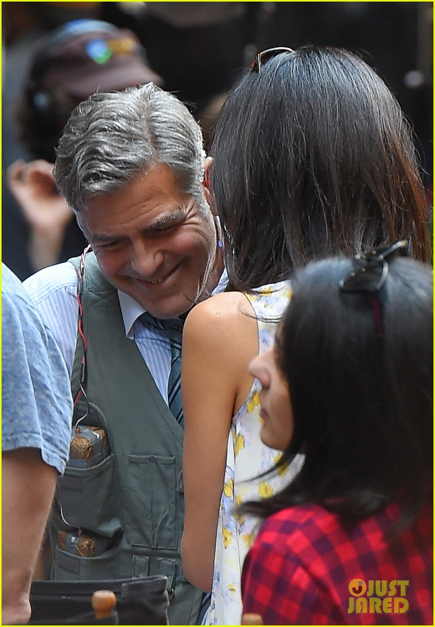 George Clooney on location: Money Monster NYC April 18, 2015 George-clooney-gets-touchy-feely-with-amal-02