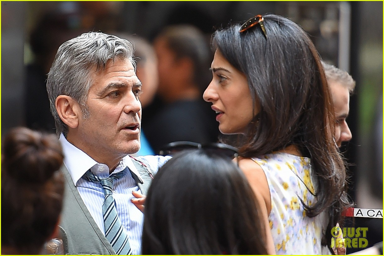 George Clooney on location: Money Monster NYC April 18, 2015 George-clooney-gets-touchy-feely-with-amal-31