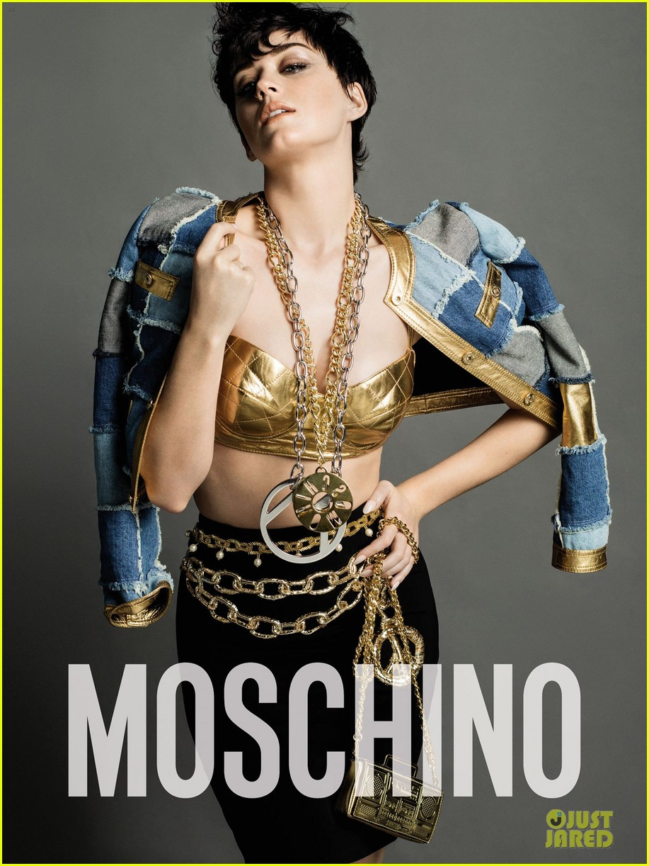 Katy Perry is the MOSCHINO face. Katy-perry-bares-a-lot-of-skin-moschino-ads-04