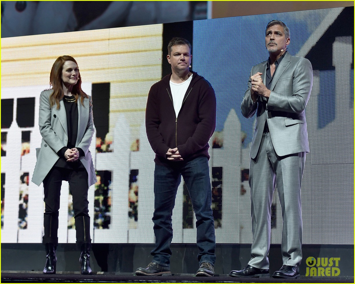 George Clooney at CinemaCon presenting Suburbicon George-clooney-julianne-moore-matt-damon-cinemacon-2017-07