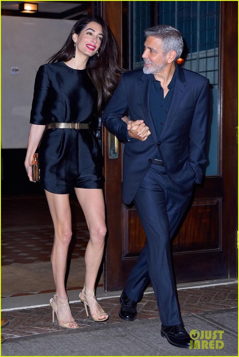 George Clooney celebrates his birthday in New York at Laconda Verde George-clooney-amal-birthday-dinner-03