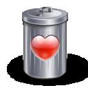 قلب بحاجة الى delete Recyle_bin_heart_love