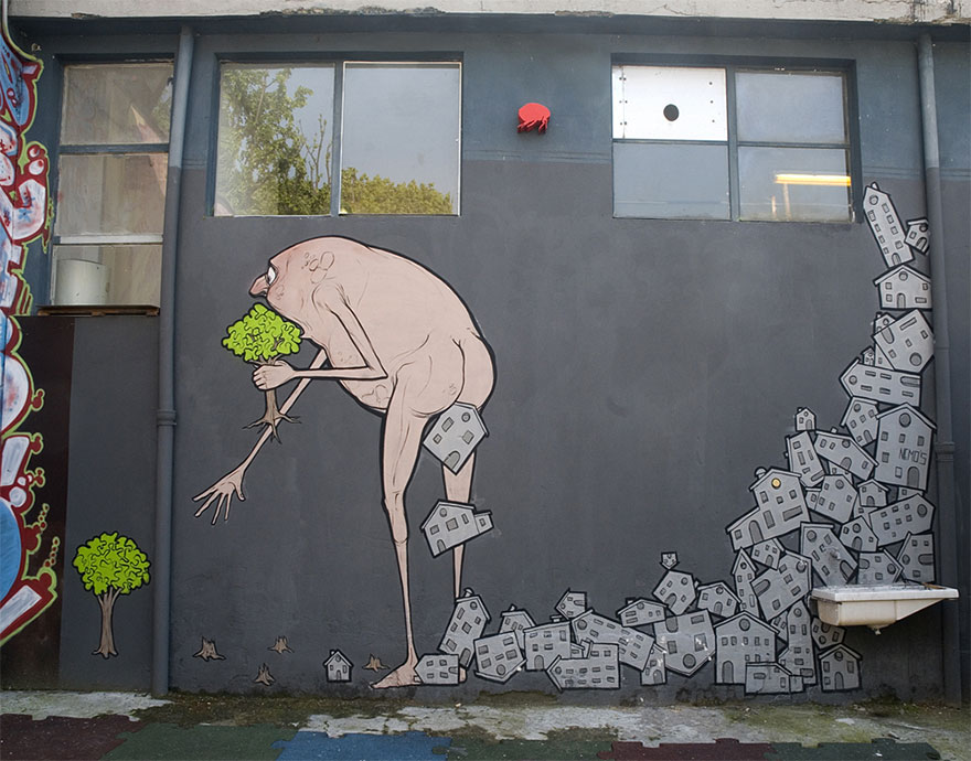 These Incredible Street Art Pieces Tell A Disturbing & Uncomfortable Truth About Society 131