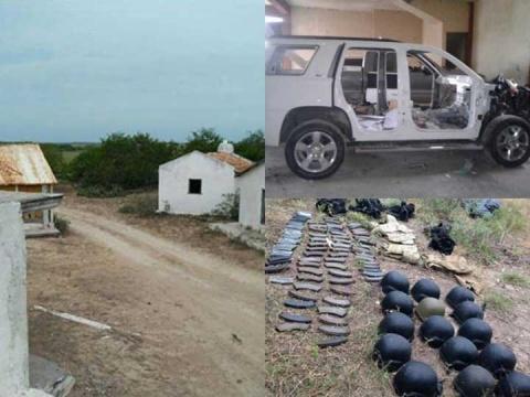 Aseguran armas y vehículos en campo de adiestramiento clandestino del narco 1725266