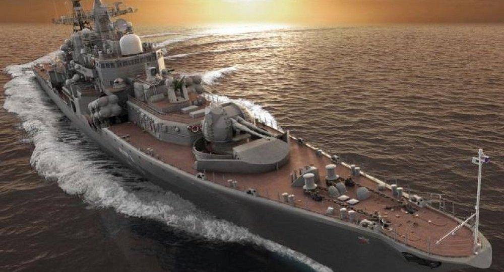 مدمرة روسية جديدة مزودة بأكثر من 200 صاروخ  1014642785