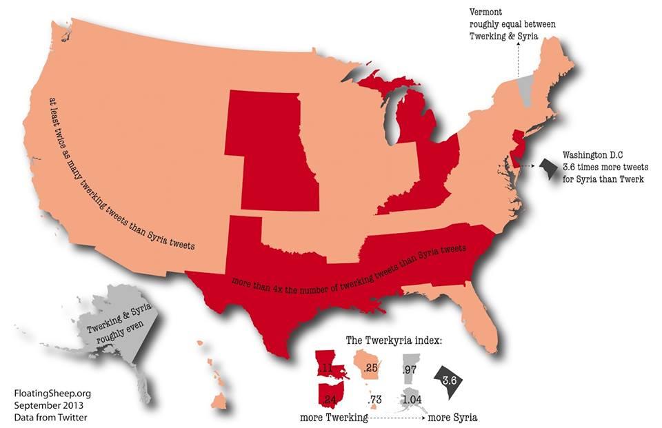 29 خريطة تشرح لك الإنترنت Twerking
