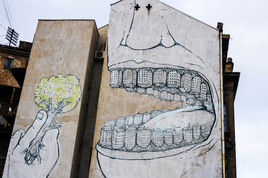 These Incredible Street Art Pieces Tell A Disturbing & Uncomfortable Truth About Society 32