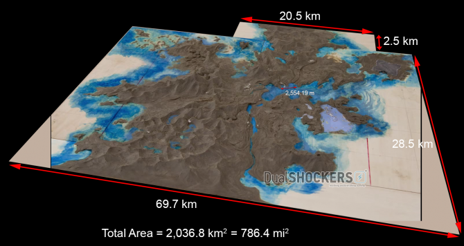 Final Fantasy XV's Map Size: it's Roughly an Enormous 780 Square Miles FFXV_Map_02-670x356