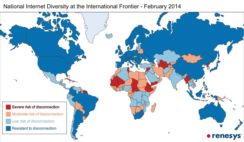 29 خريطة تشرح لك الإنترنت World-2014