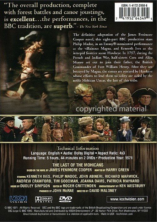 Последний из могикан / The Last of the Mohicans (Великобритания, 1971, 8 серий) 1273916bh