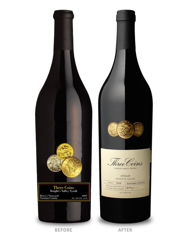 Un vino para numismáticos Three-Coins-Before-and-After1