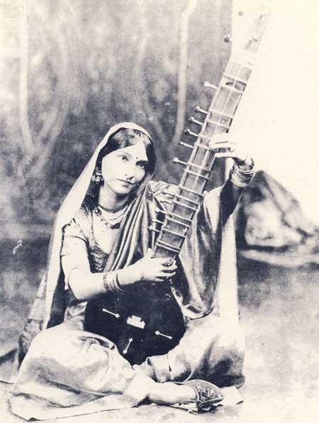 La musique classique Indienne Girl_sitar
