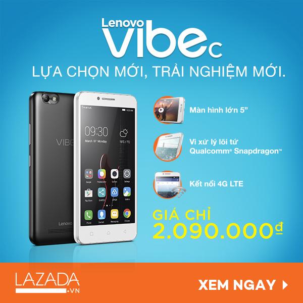 Mobile • Lenovo VIBE C – Chỉ hơn 2 triệu đồng cho trải nghiệm công nghệ chất lượng • http://i.imgur.com/QE42AQo.jpg • Màn hình sắc nét 5 inch, kết nối 4G LTE nhanh và bộ vi xử lý lõi tứ Qualcomm®... Img20160625102037581