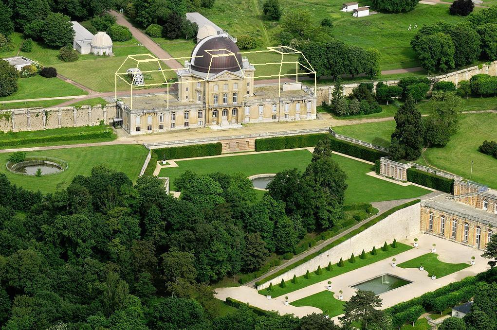 Observatoire de Meudon la Fôret Chateau-neuf-avec-les-deux-ailes-et-toits