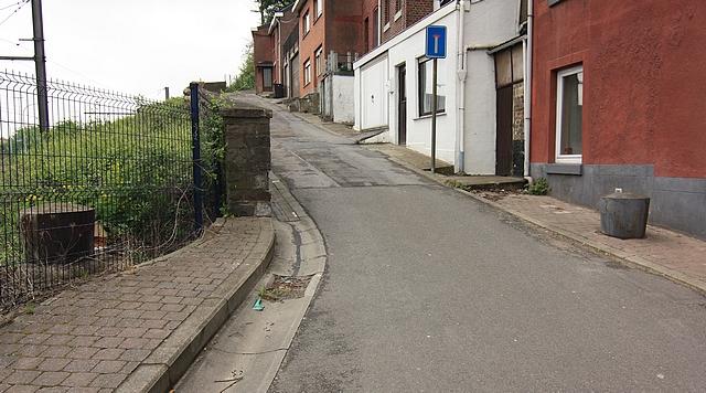 Cheratte dans la position fortifiée de Liège Voie_Melard_Bornes