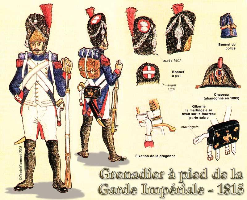 Fourreau de baïonette de la Garde Impériale  Grenadier_planche_couleurs
