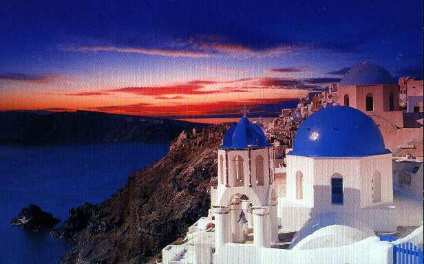 Πρόγραμμα κοινωνικού τουρισμού 2010 - Δικαιούχοι Οργανισμού Εργατικής Εστίας: Santorini_Sunset_bg