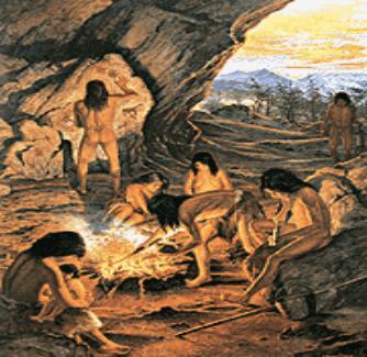 Las historias alrededor del fuego influyeron en nuestra evolución cultural y social Hombres-y-mujeres-prehistoria-con-fuego