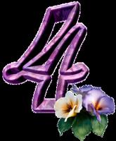 """Chiffres """"Fleurs"""" E419481a"""