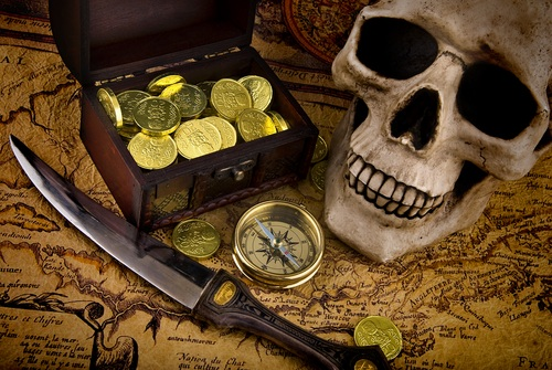 La piraterie, Kezako ?  Pirate-treasure