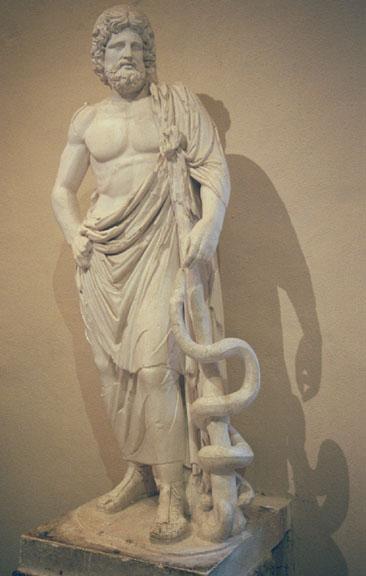 [Jeu] Association d'images - Page 3 Esculape_statue