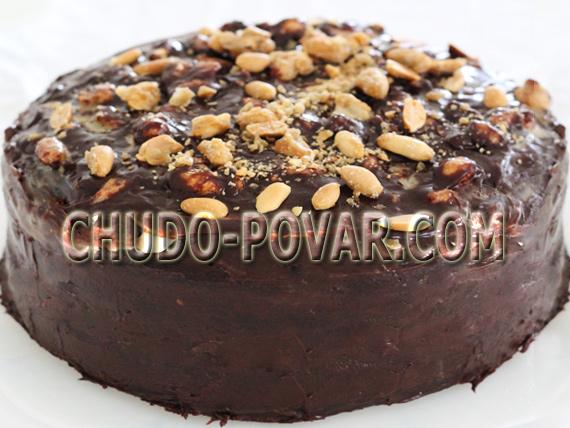 Торты и десерты - Страница 5 Shokoladnyj-tort-snikers-recept-shokoladnogo-torta-snikers-s-foto
