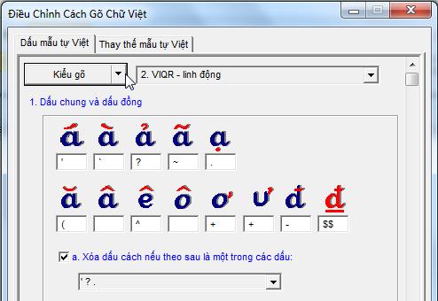 Làm sao cài kiểu gõ dấu chữ Việt của riêng mình vào WinVNKey Image009