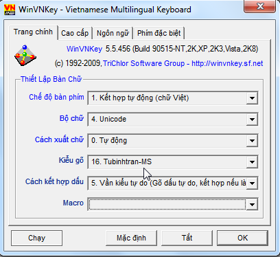Làm sao cài kiểu gõ dấu chữ Việt của riêng mình vào WinVNKey Image012