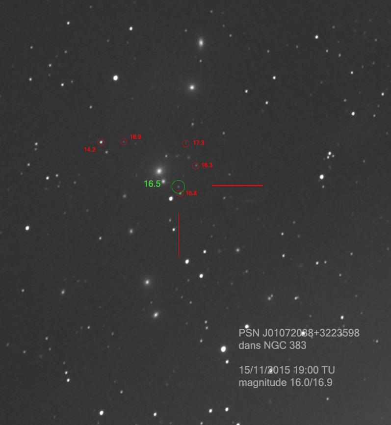 Possible super novae dans NGC 383 PSN-J01072038_3223598_15_11_2015