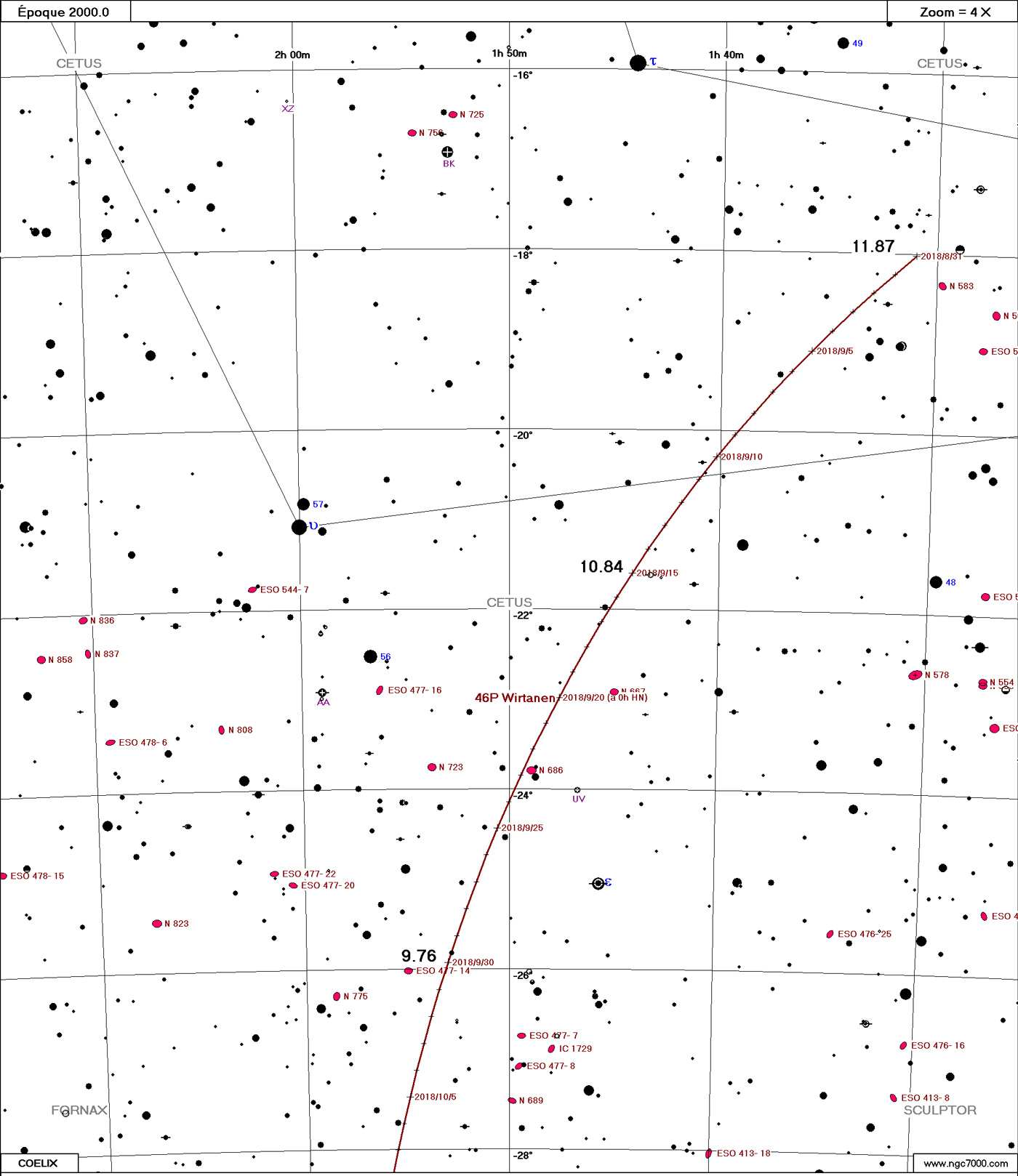 Comète 46P/Wirtanen Wirtanen09