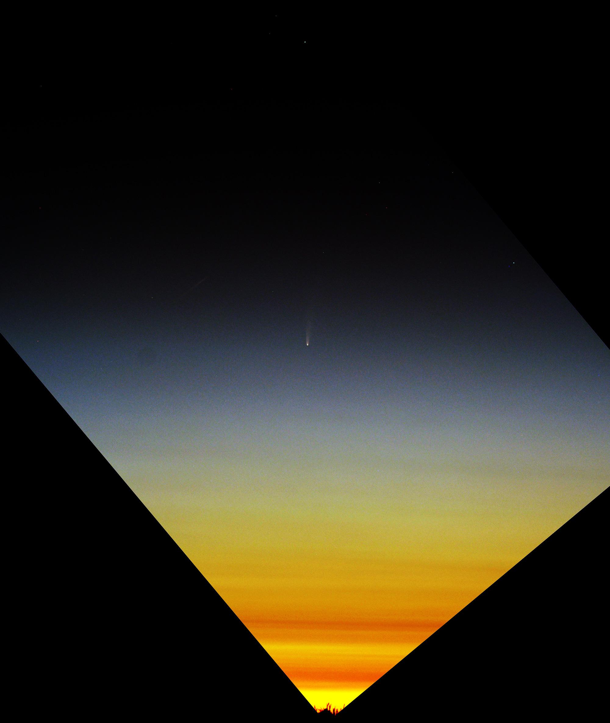 Comète C/2020 F3 NEOWISE Aube_comete