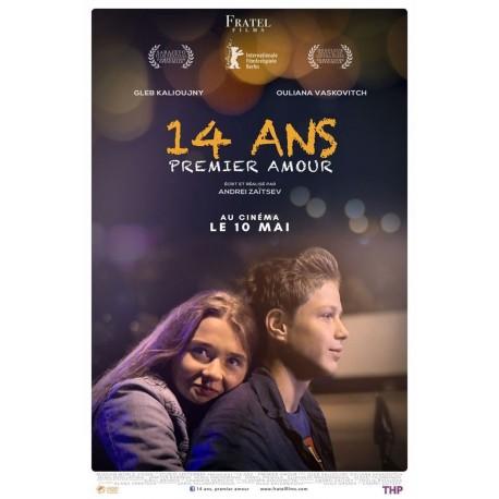 LE BON NUMERO 14-quatorze-ans-premier-amour-veritable-affiche-de-cinema-pliee-format-40x60-cm-de-andrei-zaytsev-avec-gleb-kalyuzhny-ulyana-vas
