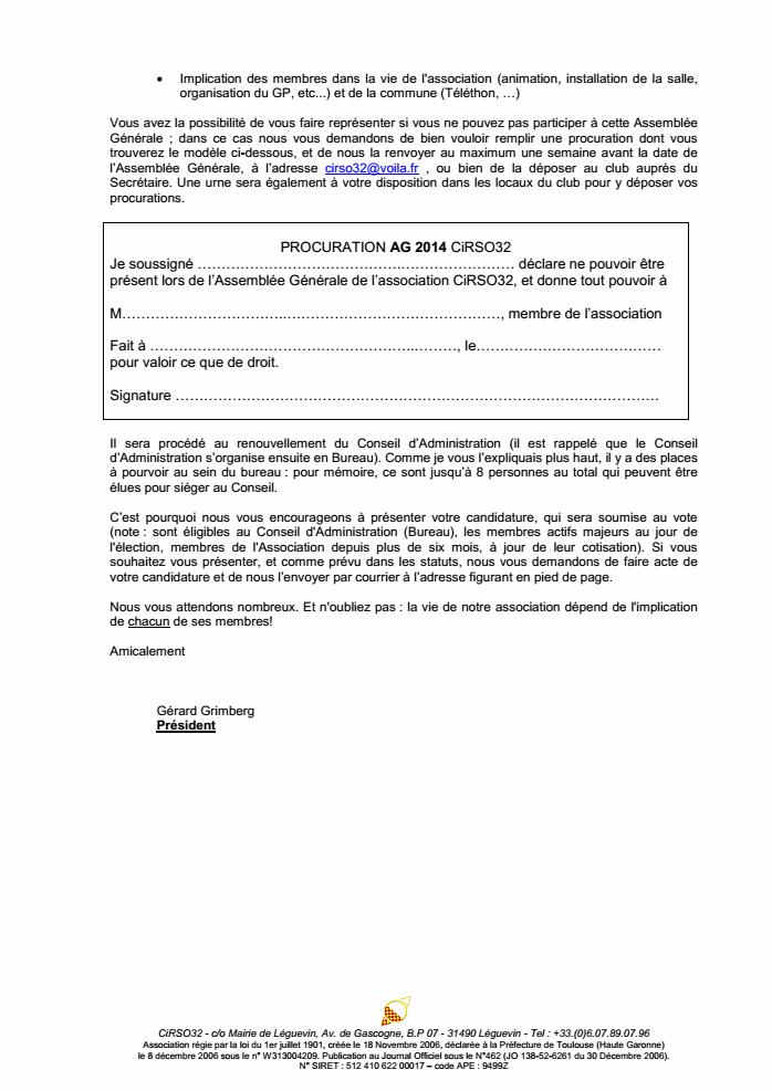 Invitation Assemblée Générale 2014 - Samedi 26 avril à 10h30 CiRSO32_invit_AG2014_p2