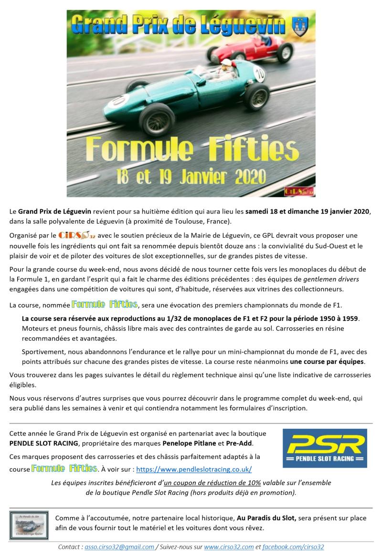 GPL 2020 (Grand Prix de Leguevin) Annonce F0