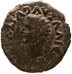 Dupondio hispanorromano de Tiberio  (AVGVSTA EMERITA) Tiberius%20emerita-o