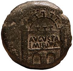Dupondio hispanorromano de Tiberio  (AVGVSTA EMERITA) Tiberius%20emerita-r