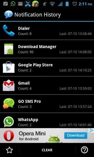 Desactiver les Notification d'une APK  Notification-History-Android-Home